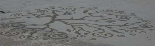 patelgé,perros guirec,land art,landart,beach art,plage art,sable, trestraou, corail