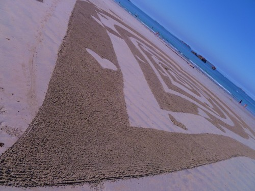 land art,heart,patelgé,perros guirec,rake art,beach art