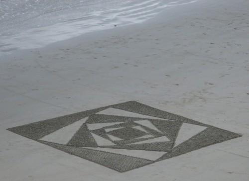patelgé,land art,beach art,rake art,dessin sur le sable,sand art,sable,plage,art contemporain,art,perros-guirec,trestraou,bretagne,côtes d'armor, Kaldoré