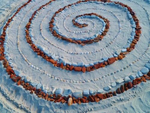 land art,spirale,perros guirec,linkin,patelge