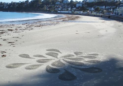 patelgé,land art,rake art,beach art,sand art,dessins sur le sable,dessins au râteau,art contemporain,art plage, adonis des sables