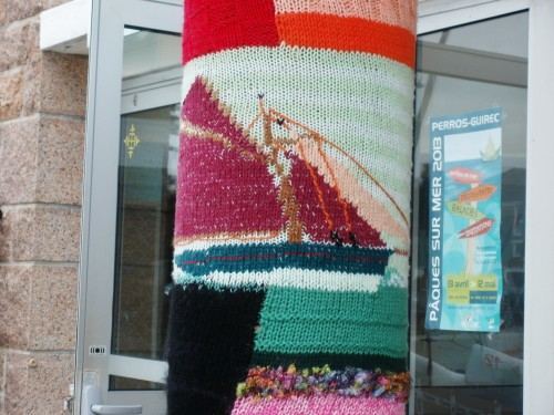 patelge,poteau,perros guirec,ecole de voile,art tricot,trestraou,knitting art
