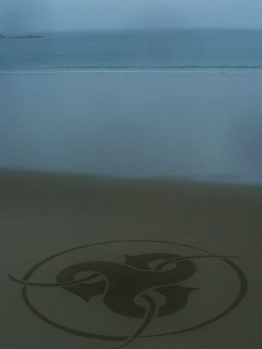 land art,rake art,rateau sur plage,perros guirec,trestraou,patelgé