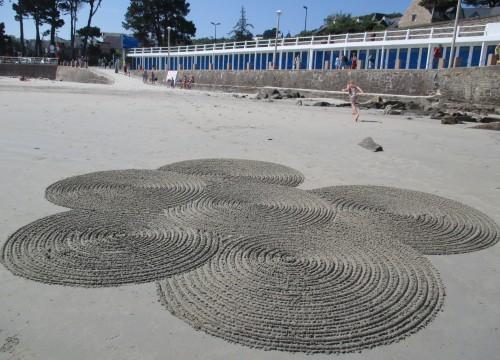 patelgé,land art,beach art,rake art,dessin sur le sable,sand art,sable,plage,art contemporain,art,perros-guirec,trestraou,bretagne,côtes d'armor, encyclies