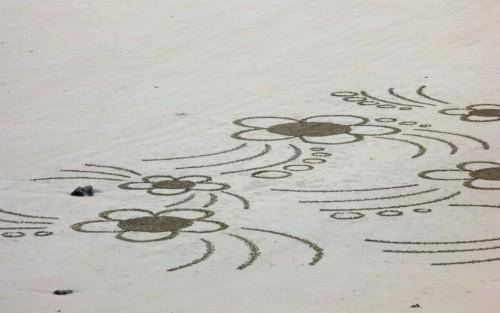 patelge,landart,rakeart,plage art,beach art,sable, ratisser,perros