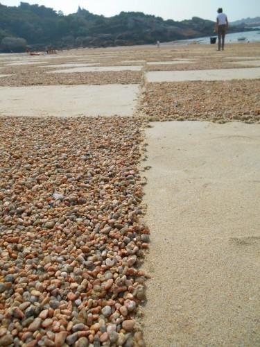 patelgé,land art,rake art,beach art,sand art,dessins sur sable,art contemporain,art éphémère,granitoïdes,festival de l'estran,trégatel 2014