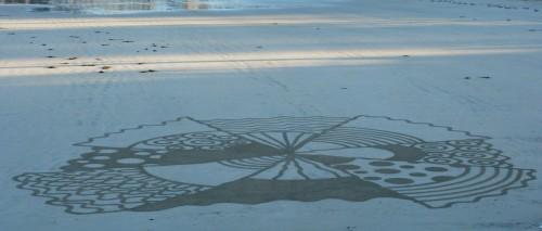 Patelgé, land art, rake art, beach art, dessin sable, art, perros-guirec, trestraou, bretagne, plage, à part entière