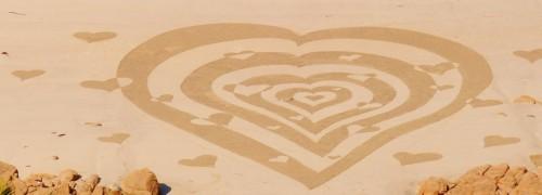 land art,coeur,amour,patelgé,perros guirec,rake art,beach art