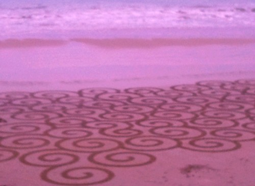 patelge,perros guirec,landart,land art,rake, beach art,dessin sable,plage art