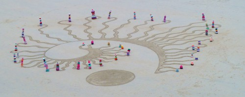 patelgé,land art,plage art,sable