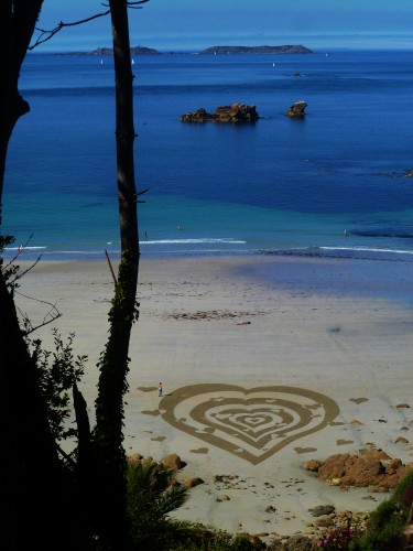 landart,plage,beach art,perros guirec,patelgé,rake art