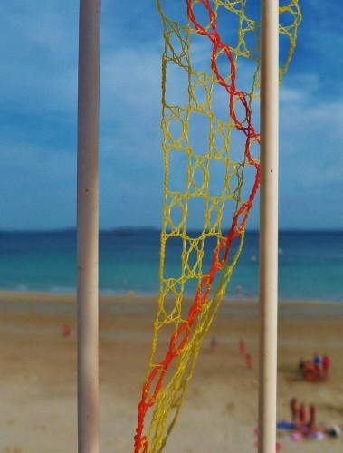 landart,land art,dentelle,fuseaux,patelge,vitrail,vitraux plage,plage,beach,perros guirec,trestignel,beach art