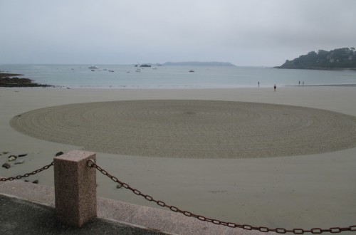 Patelgé, land art, rake art, beach art, dessin sable, art, perros-guirec, trestraou, bretagne, plage, dessins sur le sable, nouvelles ponctuations, (.)