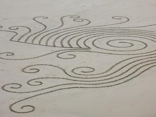 patelgé,perros guirec,spirale plage,swirl,plage art,rake art,land art