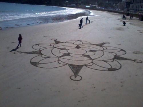 patelgé,perros guirec,land art,rake art,beach art,plage