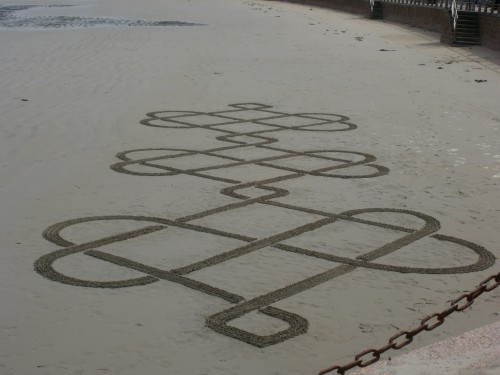 land art,heart,patelgé,perros guirec,rake art,beach art