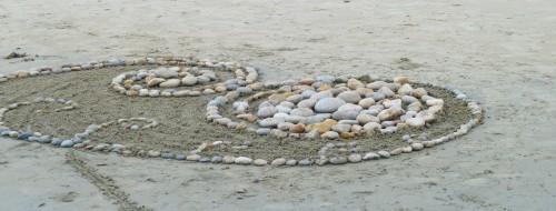 sable,sand,galet,dessin, plage,landart