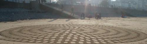 patelgé,perros guirec,landart,land art,rake art,ratisser,plage,sable