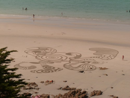 patelgé,perros guirec,land art,landart,beach art,plage art,sable