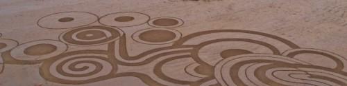 patelge,land art,landart,rake,palge,perros guirec,centre nautique perros
