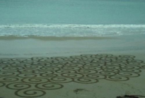 patelge,land art,landart,plage dessin,rake,beach art,perros guirec
