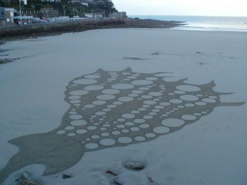 patelge,land art,landart,rake,dessin plage,perros guirec