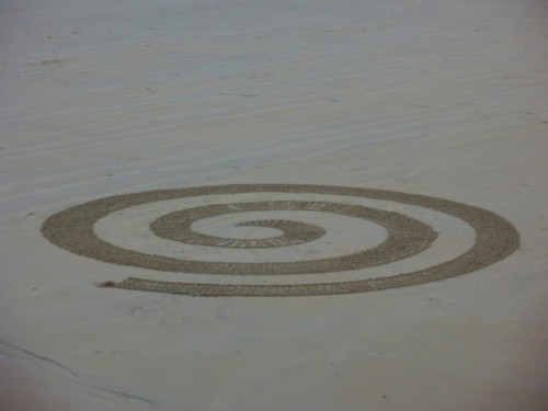 spiral,spirale,dessin plage,landart,art,waterscape